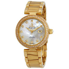 Omega De Ville 18 Carat Yellow Gold Ladies Diamond Watch 425.65.34.20.55.009