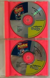 2 Reader Rabbit PC Games Reading Ages 4-6 &  Math Ages 6-9