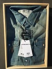 Size Large Men's Vintage H-BAR-C 100% Cotton Denim Western Shirt Size Lg. Reg.