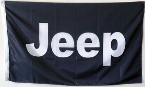 JEEP Flag Banner Black 3X5FT Man cave US Shipper