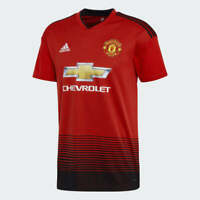 Adidas Men's 2018/19 Manchester United Home Stadium Jersey (Red/Black) CG0040*