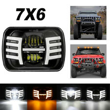105W H 5x7'' 7x6'' LED Headlight Hi-Lo Beam Halo DRL Fit For Jeep Cherokee XJ YJ