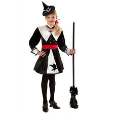 Witch Costume Girls Salem Pilgrim Black White Puritan - Medium 8-10  New