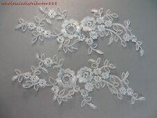 2 pieces Victorian inspired Venise sewing trim lace applique