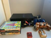 Sony PlayStation 2 PS2 Fat Console Bundle W/ 2 Controller, Games, Memory Card