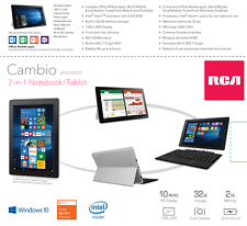 "RCA Cambio 10.1"" 32G Intel Atom Quad-Core, Windows 10 (1 Year Warranty)"