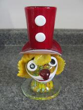 VINTAGE MURANO Art Glass CLOWN Head 2-In-1 *VASE-FIGURINE END-OF-DAY *SUPER