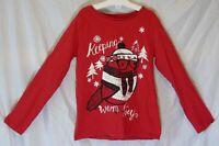 Girls Nutmeg Red Keeping Warm Cosy Robin Bird Xmas Long Sleeve Top Age 7-8 Years