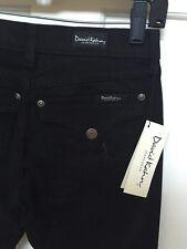 David Kahn Nikki Jeans Western Flap Pocket Black Size 28X35 Low Rise Boot Cut