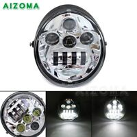 DOT Chrome LED Oval Headlight Lamp For Harley Street Rod CVO V-Rod VRSC