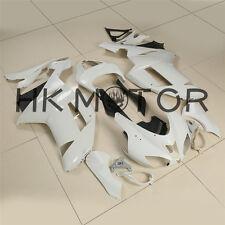 White Unpainted ABS Plastic Fairing Cowl Bodywork For KAWASAKI ZX6R 2007 2008 US