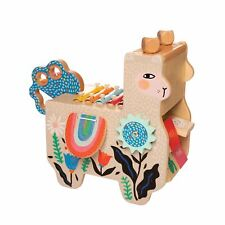 Manhattan Toy Musical Llama Wooden Instrument for Toddlers with Maraca, Clacking