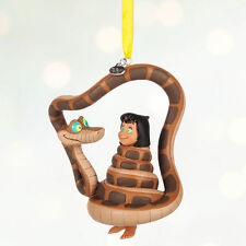 Disney Store The Jungle Book Mowgli & Kaa Snake Christmas Ornament Figure NEW