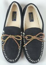 POLO Ralph Lauren Black Slippers Rubber Sole NWT