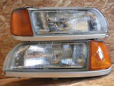1990 1995 JDM NISSAN PRIMERA P10 ZENKI HEADLIGHTS W CORNER LIGHT SILVER TRIM OEM
