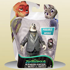 Zootropolis Mr Big and Koslov 2 Action Figures Poseable Zootopia - NEW