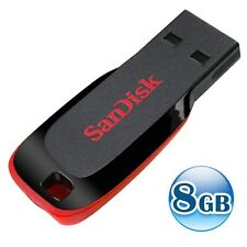SANDISK CRUZER BLADE 8GB 8G USB 2.0 Flash Pen Key Thumb Drive Memory Stick