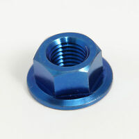 BLUE Titanium M8x1.25 sprocket nut-13mm socket. Honda, KTM, Yamaha, Aprilia, Suz