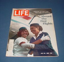 LIFE MAGAZINE JULY 26 1968 J.F.K. AIRPORT MOSCOW TO NEW YORK FLIGHT