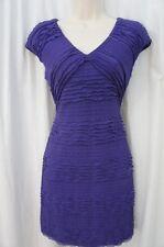 Studio M Dress Sz L Ink Purple Tiered Stretch Sleeveless Career Cocktail  Dress