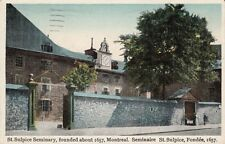 Antique POSTCARD c1926 St. Sulpice Seminary MONTREAL, QUEBEC Canada 13449