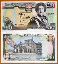 Jersey, 50 pounds, ND (2000), QEII, P-30, UNC