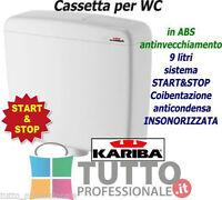 Cassetta wc esterna a zaino scarico KARIBA SUPER ECO in plastica 9 litri in ABS