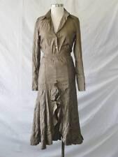2pc Anthropologie Paris Designer Crinkled Flamenco Flounce Slit Skirt+Top~S~EUC