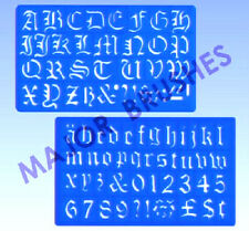 Stencil Major Brush Artist Old English Style Alphabet 30 mm Writing & Lettering