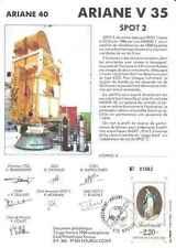 Timbre souvenir philatélique Cosmos Ariane V35 Spot 2 lot 14922