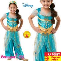 Licensed Girls Jasmine Live Action Aladdin Costume Disney Princess Child Dress