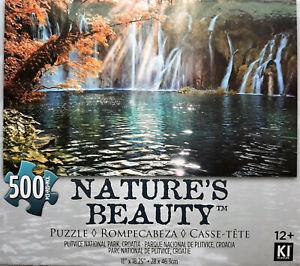 "Plitvice National Park Croatia Waterfall Jigsaw Puzzle 500 Pieces 11""X18"" Piece"