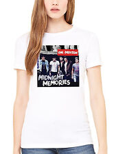 Official One Direction White Midnight Memories Women's T-Shirt 1D Harry Niall