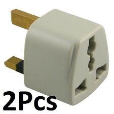 New 2 Pack US,EU,AU Plug to UK AC POWER PLUG ADAPTER TRAVEL CONVERTER