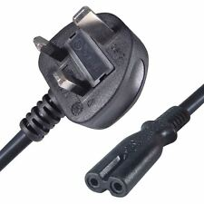Power Cord UK 3 Pin Plug to C7 Figure 8 Power Lead Fig 8 Power Cable Mains