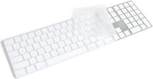 Masibloom Transparent Silicone Keyboard Cover Skin for Apple iMac Magic Keyboard