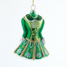 KURT S. ADLER GLASS IRISH STEP DANCING DRESS / COSTUME CHRISTMAS TREE ORNAMENT