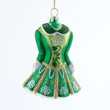 KURT S. ADLER GLASS IRISH STEP DANCING DRESS / COSTUME CHRISTMAS TREE ORNAMENT