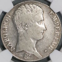 1806-L NGC F 12 France 5 Francs Napoleon Empire Bayonne Silver Coin (18090405C)