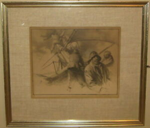 Original AAA GORDON GRANT 'Stowing Jibs' Sailors SAILING SIGNED Lithograph