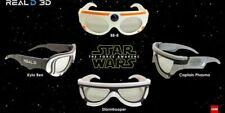 STAR WARS The Force Awakens 3D Glasses SEALED FULL SETKYLO REN BB8 STORMTROPPER