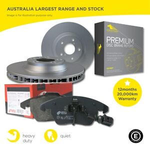 Rear Brake Pads and Rotors Set for Porsche Cayenne Turbo 9PS 358mm rear 2006-