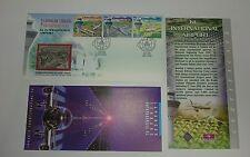 Malaysia Royal Selangor Premier Pewter Stamp FDC 3v KLIA Airport 1998 Aeroplane