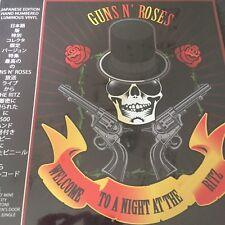 """Guns N 'Roses """"bienvenido a una noche en el hotel Ritz Ltd Edt Numerada Luminoso Vinilo Lp"""