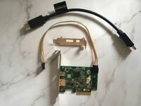 HP Z440 Lightning Extension Card PCI-E 753732-001 743098-001+ Power supply cable