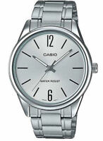 Casio MTP-V005D-7B NEW Men's SILVER-tone Dial Wrist Watch Stainless Steel Analog