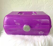 Caboodles Jellies Purple Sparkle vintage glitter cosmetics craft storage Rare