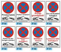 Schild Parkenverbot  Parken verboten Privatparkplatz 3mm ALU-Verbund