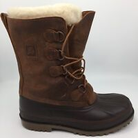 LA CROSSE Brown Leather Rubber Tall Lace-Up Duck Boots Mens Size 7