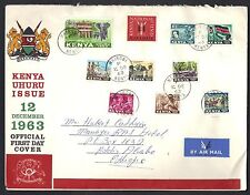 Kenya 1963 Uhuru Issue Fdc Official First Day Cover